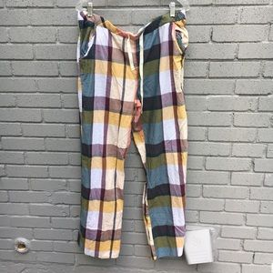 ANTHRO- allihop plaid pajama pants large
